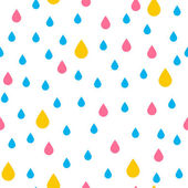 Pattern with rain drops — Stock Vector