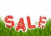 Mensagem de venda na grama verde — Vetor de Stock