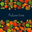 Autumn background with color leaves — Stock Vector #79673830