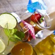 Tropical cocktails with fruits — Stock Photo #52043375