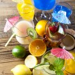 Various cocktails with fruits — Stock Photo #52046153