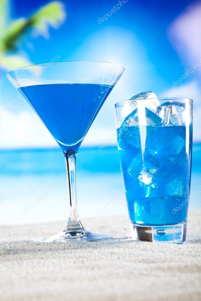 Bleu Lagon Lagon Bleu Cocktail Avec Des