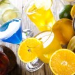 Various cocktails with fruits — Stock Photo #52054737