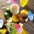 Various cocktails with fruits — Stock Photo #52060231