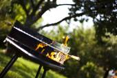 огонь, горячий гриль — Стоковое фото