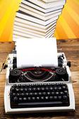 Vintage typewriter on the table — Stock Photo