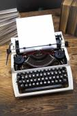 Vintage typewriter on the table — Stock Photo