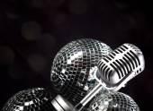 Rétro microphone — Photo