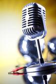 Microfono retrò — Foto Stock