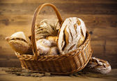Traditional bread in basket — Stock Photo