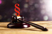 Gavel with Paragraph sign — Stock Photo