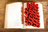 Libro di legge con paragrafi — Foto Stock