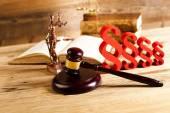 Concepto de derecho y la justicia — Foto de Stock