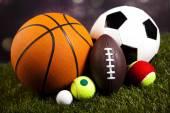 Heap of sports balls — Stock Photo