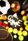 Sport bollar och utrustning — Stockfoto