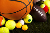 Heap of sports balls — Stock Photo