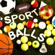Постер, плакат: Sports balls and equipment