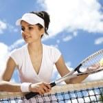 Woman holding tennis ball — Stock Photo #52116413