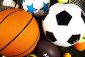 спортивные мячи — Стоковое фото