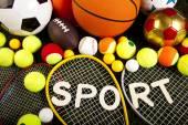 Sport equipment and balls — ストック写真