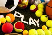 Kleurrijke sport ballen — Stockfoto
