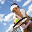 ������, ������: Tennis player with racket