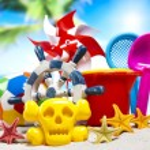 Plastic toys on beach — Stock Photo #52124275