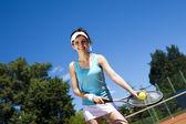 žena hrající tenis — Stock fotografie