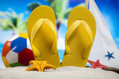 Colorful flip flops — Stock Photo