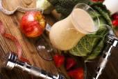 Healthy diet, protein shake — Stock Photo
