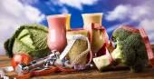 Gesunde Ernährung, Protein-shakes — Stockfoto