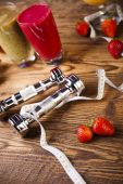 Zdravá strava, protein třese — Stock fotografie