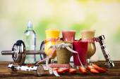 Healthy diet, protein shakes — Stock Photo