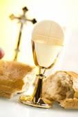 Eucharist, sacrament of communion — Stock Photo
