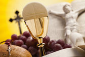 Christian holy communion — Stock Photo