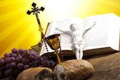 Chrześcijańskiej komunii świętej — Zdjęcie stockowe