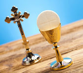 Christian holy communion — Stock Photo
