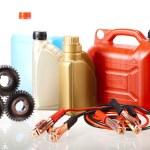 Set of auto parts, car battery — Stock Photo #57334257