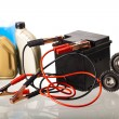 Set of auto parts, car battery — Stock Photo #57335687