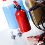 Set of auto parts, car battery — Stock Photo #57338369