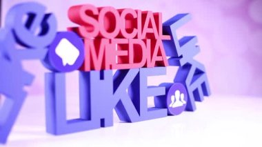 Concetto di Internet con i social media — Video Stock