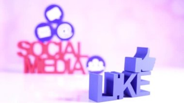 Sosyal medya kavramı — Stok video