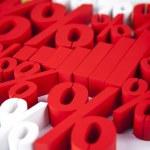 Percent symbols around financial graph — Stock Photo #71065105