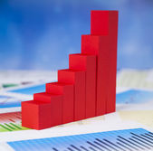Red financial graph — Stock Photo