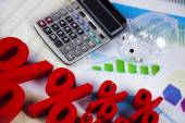 Finance concept with financial symbols — Stock Photo