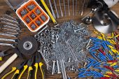 Assorted work tools — Stock Photo