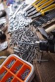 Strumenti di lavoro assortiti — Foto Stock