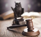 Wooden gavel barrister — Stock Photo