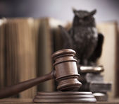 Wooden gavel barrister — Stock Photo
