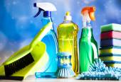 Cleaning products for home work — Stock Photo